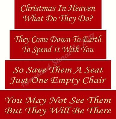 Primitive Stencil ~ITEM 7478 SHELF SITTER  - Christmas In Heaven BLOCK SET