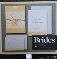Brides wedding invitation kit