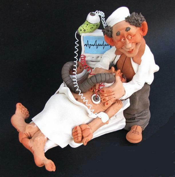 Anesthesia Doctor & Patient Figurine Vaporizer Surgical Nurse Anesthetic Syringe
