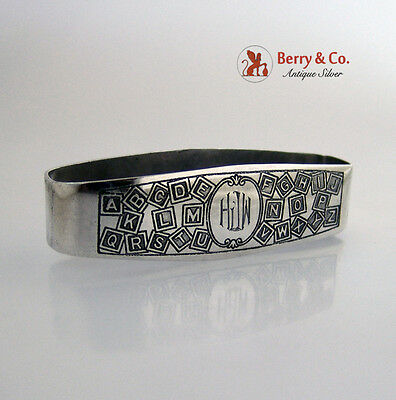 Alphabet Napkin Ring International Sterling Silver 1930