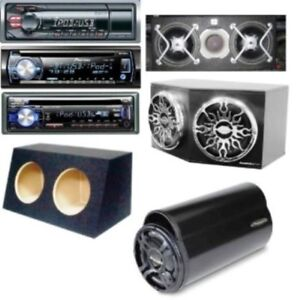 """Complete Sub Systems-Car Stereos-10"""" & 12"""" Empty Sub Boxes."""