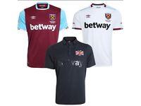 Bulk Sale Wholesale 10pcs 2016-17 West Ham United home away football soccer jersey shirt kit
