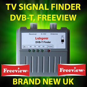 TV AERIAL SIGNAL STRENGTH METER, DETECTS DIGITAL FREEVIEW TV SIGNALS