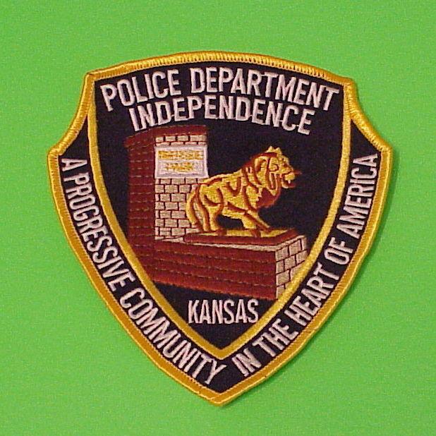 INDEPENDENCE  KANSAS  KS    POLICE DEPT. PATCH  FREE SHIPPING!!!