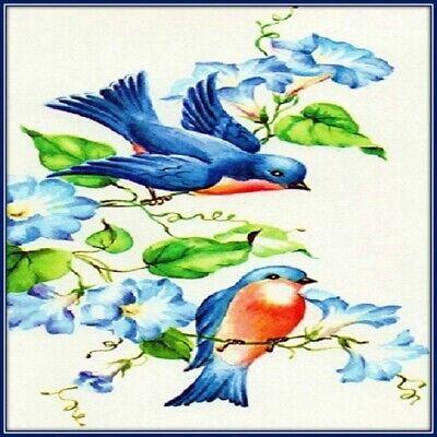 30 Custom Bluebirds Personalized Address Labels