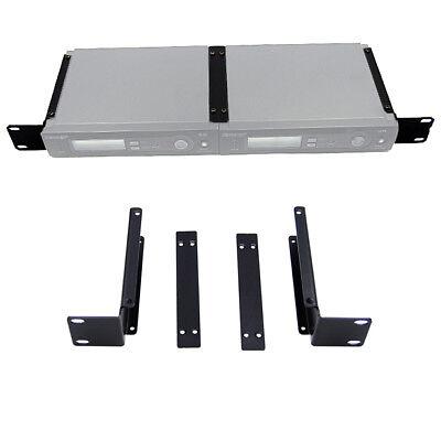 Wireless Mic Receiver Bracket Rackmount and BNC Antenna Extension for Shure SLX4 Rackmount Wireless Receiver