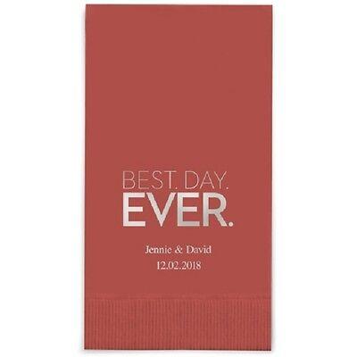 400 Best Day Ever Block Printed Rectangular Fold Wedding Dinner