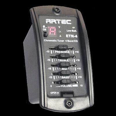 ARTEC ETN-4 Acoustic Guitar 4 Band Equalizer EQ Preamp w/ Tuner & Piezo Pickup
