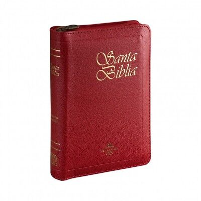 Biblia tamaño bolsillo cierre e indice Rojo RV60