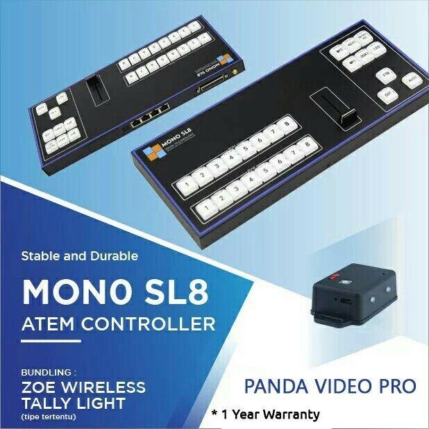 Atem Control Panel - Atem Controller Mono SL8 + Wireless Tally Light 4 Channel
