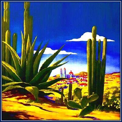 30 Custom Mexican Desert Art Personalized Address Labels
