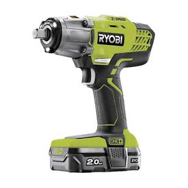 Ryobi R18IW3-120S 18V ONE+ Cordless 3 Speed Impact Wrench (1x 2.0Ah)  