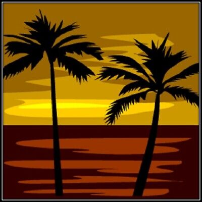 30 Custom Tropical Sundown Art Personalized Address Labels