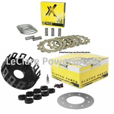 Pro-X Complete Clutch Plate Set (Friction/Steels/Springs) + Basket RM250 96-02