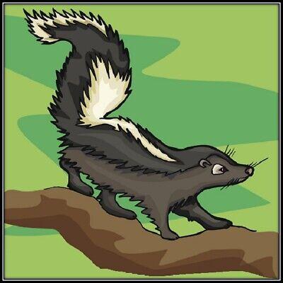 30 Custom Cute Skunk Art Personalized Address Labels