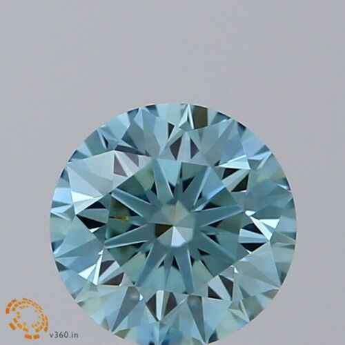 5.60 MM Sky BLUE Color Loose CVD Lab Grown Diamond 0.67 Ct Round for Ring Making