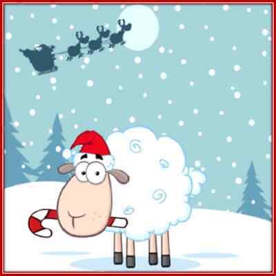 30 Custom Christmas Eve Sheep Personalized Address Labels