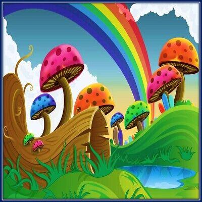 30 Custom Rainbow Mushrooms Personalized Address Labels
