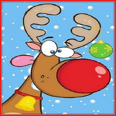 30 Custom Xmas Reindeer Personalized Address Labels