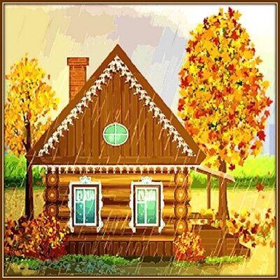 30 Custom Autumn Cabin Personalized Address Labels