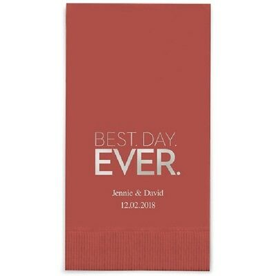 240 Best Day Ever Block Printed Rectangular Fold Wedding Dinner