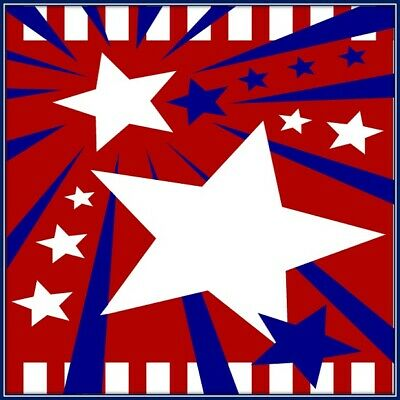 30 Custom Patriotic Banner Personalized Address Labels