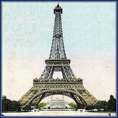 30 Custom Eiffel Tower Personalized Address Labels