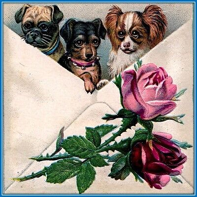 30 Custom Classic Puppy Art Personalized Address Labels