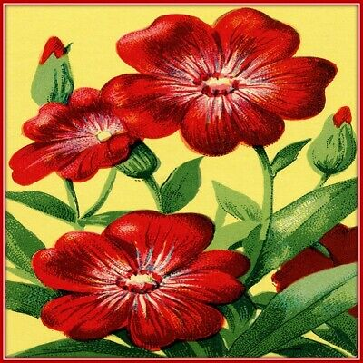 30 Custom Classic Red Flower Art Personalized Address Labels