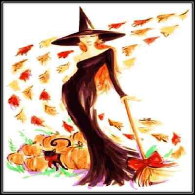 30 Custom Pretty Witch Art Personalized Address Labels