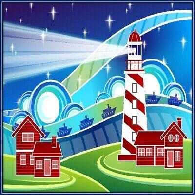 30 Custom Lighthouse Art Personalized Address Labels