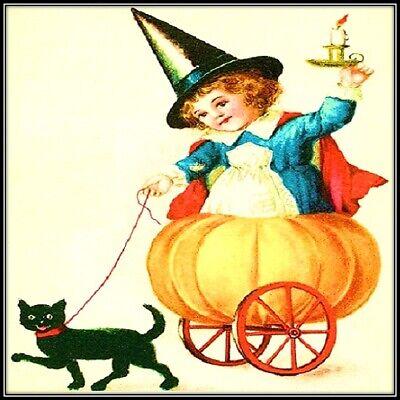 30 Custom Vintage Halloween Fun Personalized Address Labels