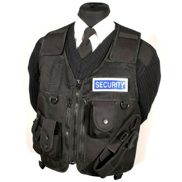 Protec Black security guard tactical equipment vest