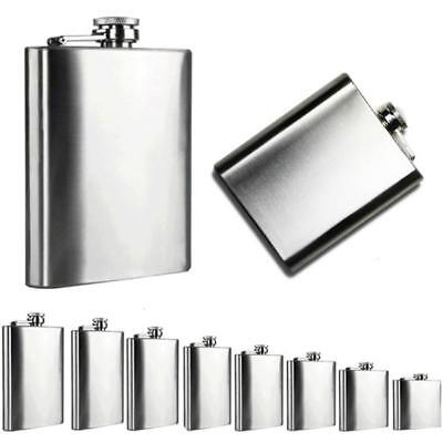 (Man's Stainless Steel Outdoor Pocket Hip Flask Alcohol Whiskey Liquor Screw Hot)