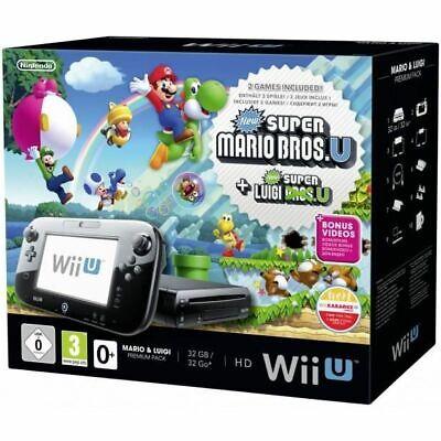 RARE Pack Console Nintendo Wii U • Super Mario Bros + Luigi...