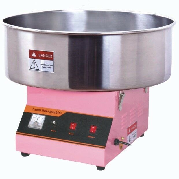 Slightly USED Electric Commercial Cotton Candy Machine / Floss Maker Pink VIVO
