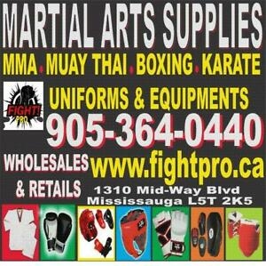 MARTIAL ARTS SUPPLIES, BEST QUALITY, BEST PRICE, SPECIAL DISCOUNT FOR CLUBS, UPTO 75%OFF (905) 364-0440 WWW.FIGHTPRO.CA