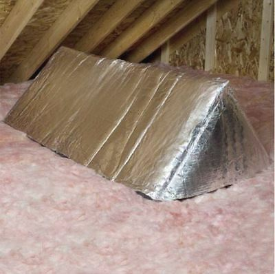 R10 Attic Stair Opening Fiberglass Insulation Reflective Foil Air Leak Reduction