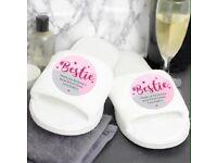 Personalised bestie slippers