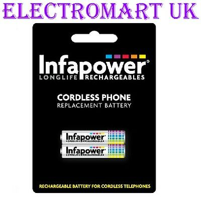 T005 Infapower Rechargeable Ni-Mh Battery for Cordless Telephones 2x 2//3 AAA 12