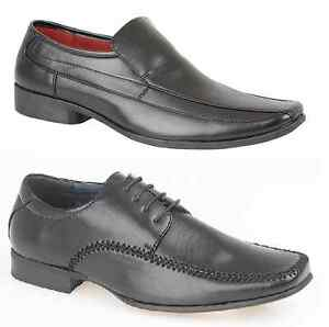 MENS-FORMAL-LUXURY-WEDDING-BLACK-LACE-UP-SLIP-ON-WORK-SHOES-7-8-9-10-11-12