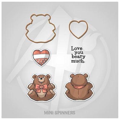Art Impressions Rubber Stamp & Die Set ~ MINI BEAR SPINNER SET Critters -4736 Dice Spinner Set