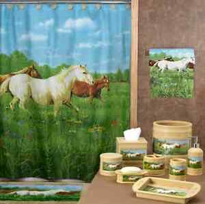 horse shower curtain sets heart shower curtain set