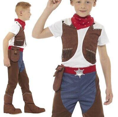 Kinder Jungen Deluxe Cowboy Kostüm Kinder Kuh Boy - Deluxe Braune Cowboy Kostüme