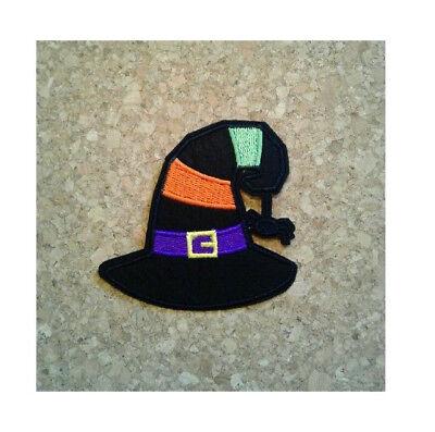 Witches Hat - Spider - Halloween - Autumn - Embroidered Iron On Applique - Spider Hat Craft Halloween