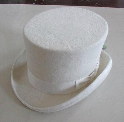 Wedding High Top Hat/Woolfelt Cylinder Hat/ Stove pipe Hat /Topper 5.3