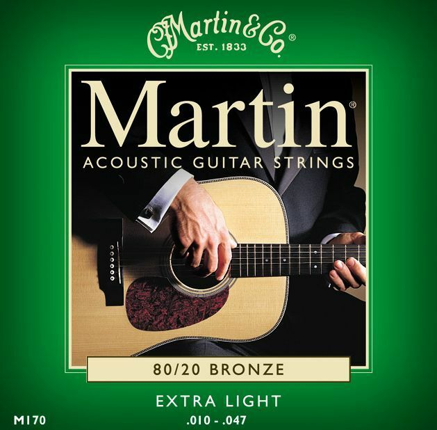 Martin M170 80/20 BRONZE Guitar Strings Acoustic Steel Extra Light