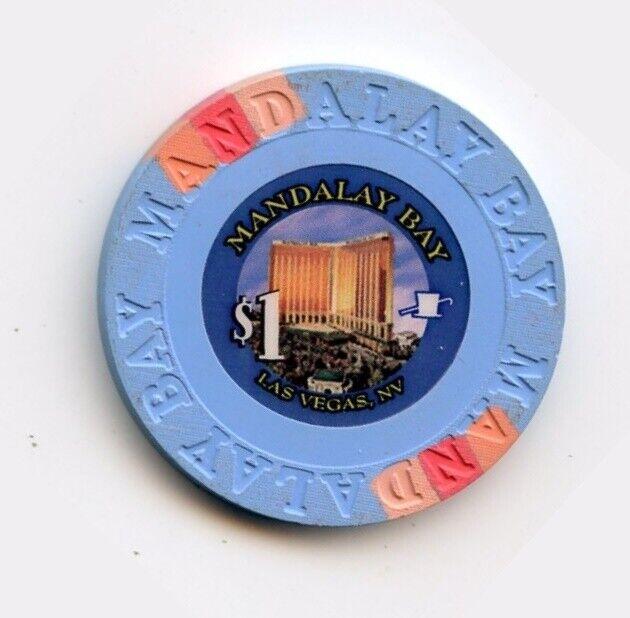 1.00 Chip from the Mandalay Bay Casino in Las Vegas Nevada Small Inlay
