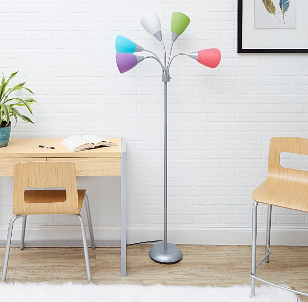 Your Zone 5-light Floor Lamp - Pink