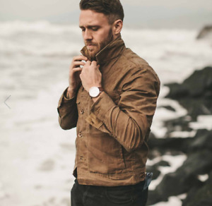 Taylor Stitch: The Long Haul Jacket in Field Tan Waxed Canvas